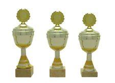 Pokale 3er Serie 593 Silber/Gold mit Höhe=24,5-22,5 cm inkl.Gravur nur 22,95 EUR