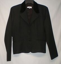 R Wear Rampage Clothing Black With Velour Collar Blazer Dress Jacket Size 9