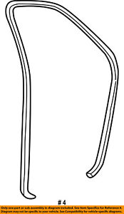FORD OEM Front Door-Surround Weatherstrip Seal 8L2Z7820708A