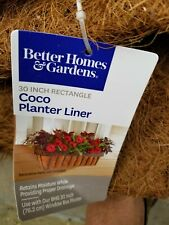 """Panacea 30"""" X 7"""" Rectangle Trough Window Box Planter Replacement Coco Liner •NEW"""