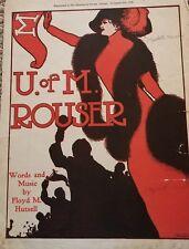 University of Minnesota ROUSER 1909 GOPHERS Rare FLOYD HUTSELL Sheet Music!