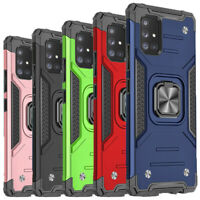 For Samsung Galaxy A71 5G Phone Case Ring Kickstand Shockproof Rugged Hard Cover