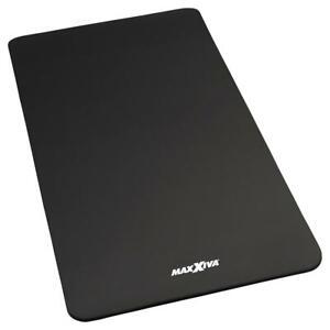 MAXXIVA Yogamatte Gymnastikmatte Fitnessmatte 190x102x1,5 cm schwarz