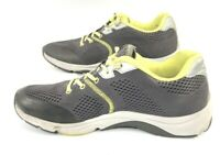 Vionic 335 Emerald Athletic Walking Running Shoes Gray Yellow Neon Womens Sz 9.5