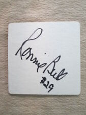 Ronnie Bull - Authentic Autograph on Walter Payton Commemorative Coaster
