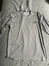 Adidas Grey Dri Fit Climate Long Sleeve Shirt Men's Large