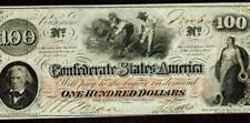 Cs-41. $100 1862 Confederate States of America * More Paper Currency For Sale