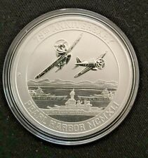 75th ANNIVERSARY 1oz  PEARL HARBOR SILVER COIN-9999) SPECIAL!!!!