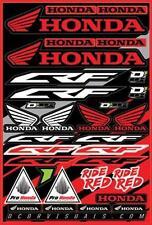"D'Cor Honda CRF Decal Sheet 12""x18"" 40-10-100"