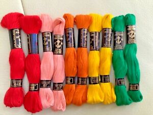 10 ANCHOR. Cotton A Broder Embroidery threads bundle cross stitchMixed