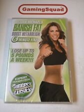 Jillian Michaels Banish Fat Boost Metabolism NEW DVD, Supplied by Gaming Squad
