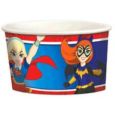 DC Super Hero Girl Snack Ice Cream Cups 8 Per Package Birthday Party Supplies
