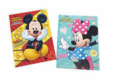NEW Set of 2 Mickey Mouse and Minnie Kids Coloring Book and Activity Books Set