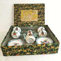 Japanese Children's Miniature Tea Set The Little Hostess Set Lustre Box Vintage