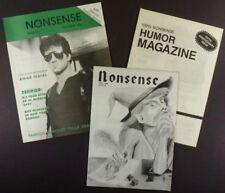 Hofstra University Student Humor Magazine 'Nonsense '- Three 1980s Issues