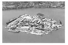 Sydney Cockatoo Island Dockyard 1st aerial 1951 modern digital Photo Postcard