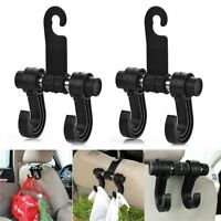 Car Headrest Seat Double Hook Holder Bag Hanger Organizer Vehicle Coat Hanger