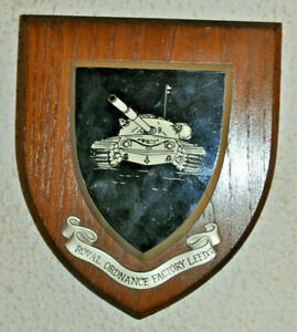Royal Ordnance Factory Leeds wall plaque shield crest coat of arms