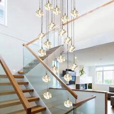 Stairs droplight Crystal Glass Ball Lamp Square Diamond Modern Pendant Light