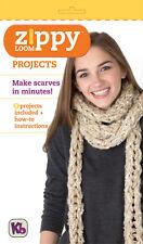 Kb Zippy Telar Proyectos Folleto Libro Instrucciones para Bufandas y accesorios