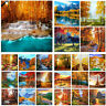 DIY Autumn Scenery Paint By Number Kit Acrylic Oil Painting Art Wall Home Decor