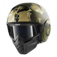 Shark Raw Kurtz Motorcycle Helmet Mat Green Camo X-Large 61-62 cm RRP 369.00