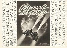 W2708 Binocoli SAN GIORGIO - Pubblicità del 1940 - Old advertising