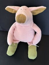 "Manhattan Toy Co Pierre Pig Tip Toes Plush Ballerina Green Ballet Shoes 17"""