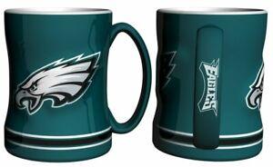 Philadelphia Eagles 14oz Sculpted Relief Coffee Mug NFL