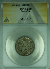 1905 Canada 25 Cents Quarter Silver Coin ANACS AU-50 Better Coin (WB1)