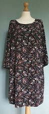 Ladies Monsoon Black/Floral Shift Dress