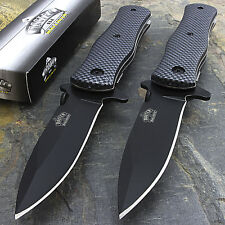 "2 x 8"" MASTER USA TACTICAL FOLDING SPRING ASSISTED KNIFE Blade Pocket Open"