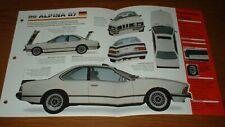 ★★1987 BMW ALPINA B7 SPEC SHEET BROCHURE INFO PHOTO 87 86 85 84 83 1978-1988★★
