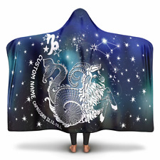 Personalized Capricorn Horoscope Zodiac Star Sign Hooded Blanket
