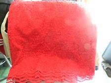elle womens floral red lace skirt knee length stretch waist size 10 free ship