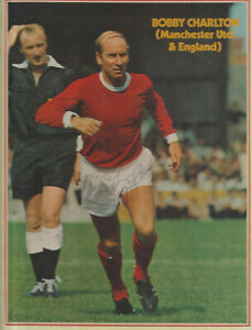 MANCHESTER UNITED - BOBBY CHARLTON - SIGNED - COLOUR PICTURE