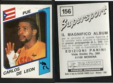 Carlos De Leon (PUE) Panini Boxing CARD Supersport 1986!! NEW n.156!!