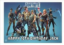 FORTNITE D4 PERSONALISED A4 ICING CAKE TOPPER plus FREE GIFT and FREE POSTAGE