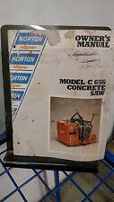 Norton Clipper C656 Concrete Saw Owners Operators Manual