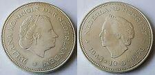 NETHERLANDS 1970 10 GULDEN JULIANA 1945-1970 SILVER COIN Lot 2