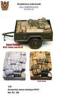 1/35 M101 trailer load RESINA ESTIBA accesorios diorama REMOLQUE tamiya italeri