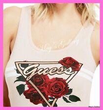 GUESS Graphic Logo  Floral   Tank T-shirt Tee T shirt Top Blouse NWT XS,S,M,L,XL