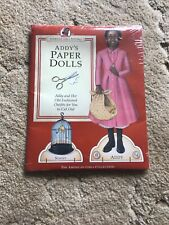 American Girls Pastimes Addy's Paper Dolls New