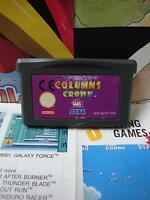 Game Boy Advance GBA:Columns Crown [TOP & 1ERE EDITION] SEUL - Fr