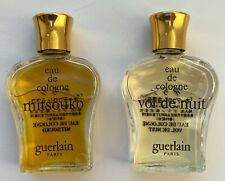 GUERLAIN VOL DE NUIT MITSOUKO EAE DE COLOGNE SET 2X 15 ML O.5 FL OZ