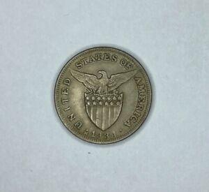 Philippines 1934 M Recut 1 5 Centavos