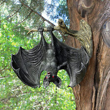 "Demon Of The Night Red Eyed Vampire Bat Design Toscano Exclusive 8"" Statue"