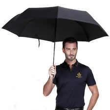 Big Portable Men's Auto Open & Close Windproof Vented Folding Umbrella Black