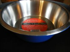 ProSelect Dog Dish Stainless Steel Classic Dog Pet Dining Bowl, 3-Quart BLUE