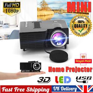 Mini HD 1080P Portable Home Cinema Projector LED Movie Video Theater Multimedia